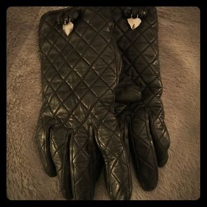 💕 Coach Black Leather Gloves